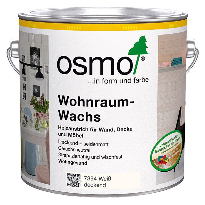 wohnraum wachs weiss deckend 750ml osmo 5946 beizen wachse hadk holzveredlung had. Black Bedroom Furniture Sets. Home Design Ideas