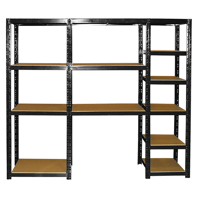 schwerlastregal 40 x 210 x 180 cm traglast 180 kg boden steckmontage bauhaus. Black Bedroom Furniture Sets. Home Design Ideas