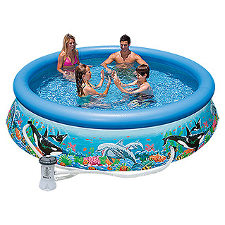 Intex Piscina Easy Pool Ocean Reef (Diámetro: 305 cm, Altura: 76 cm, 3.850 l)