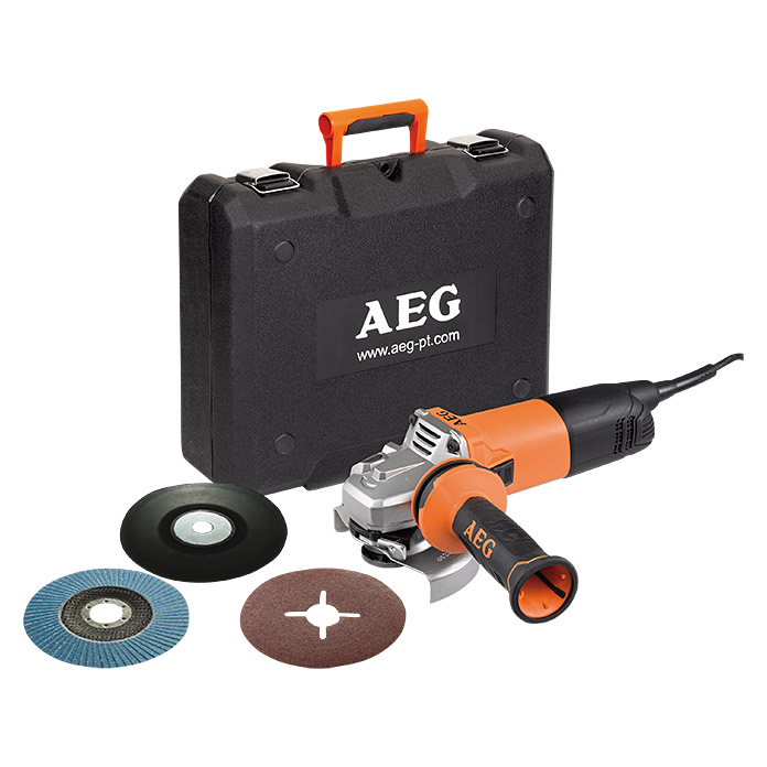 AEG Powertools Winkelschleifer-Set WS 13-125 SXE (1.300 W, 125 mm)