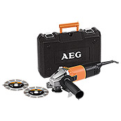 AEG Powertools Winkelschleifer-Set WS 8-125 S (800 W, 125 mm)