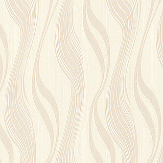 AS Creation Avenzio 4 Vliestapete Avenzio 4 (Beige/Creme, Wellen, 10,05 x 0,53 m)