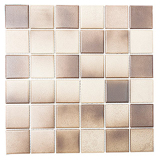 Mosaikfliese Quadrat Mix CD 215 (30,6 x 30,6 cm, Braun, Matt)