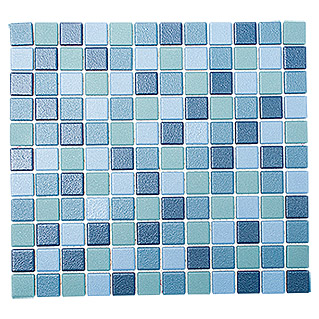 Mosaikfliese Mix JT AT 251 (33 x 30,2 cm, Blau, Matt)