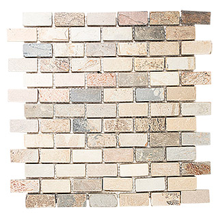 Mosaikfliese Brick Indian Autumn XMI 544 (31 x 32,2 cm, Beige, Matt)