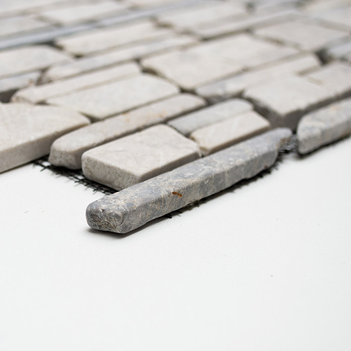 .BRICKMOSAIK UNI GREY MOS BRICK 230