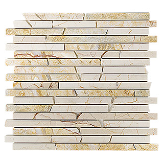 Mosaikfliese Golden Cream MOS BRICK 2807 (30,5 x 32,2 cm, Cream, Poliert)