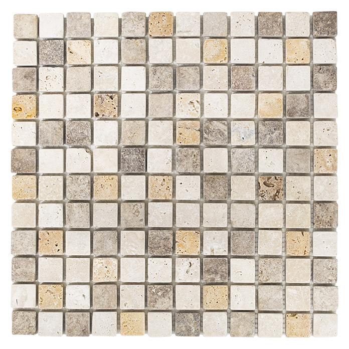 .QUADRAT TRAVERTIN MIX TUMBLED XNT 46380