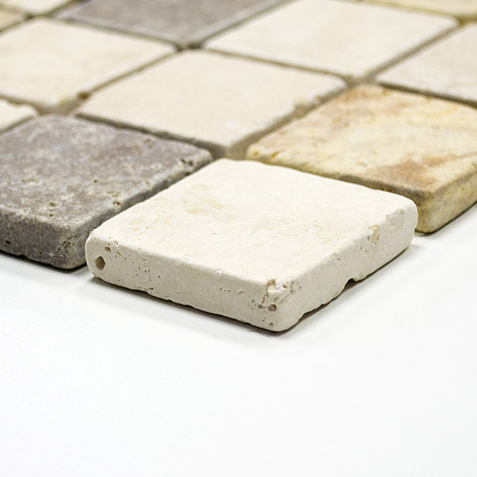 .QUADRAT TRAVERTIN MIX TUMBLED XNT 46685