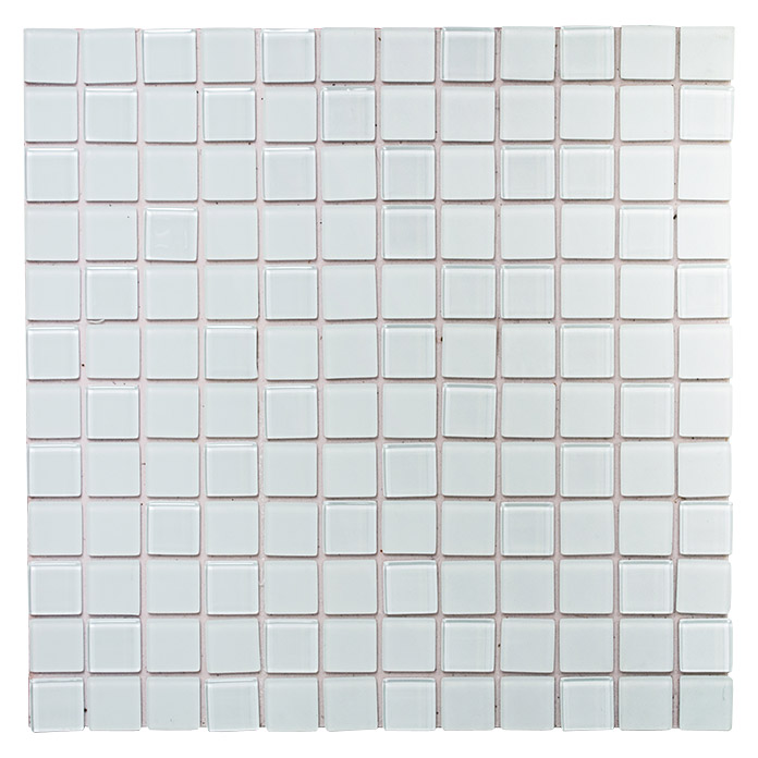 Mosaikfliese Quadrat Crystal Mix SAM 4CM20 (Weiß, Matt)