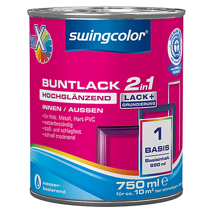 MIX BUNTLACK 2 IN 1 WB HGL.BASIS 1 750mlSWINGCOLOR