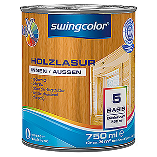 swingcolor Mix Holzlasur (750 ml, Basismischfarbe, Seidenmatt)