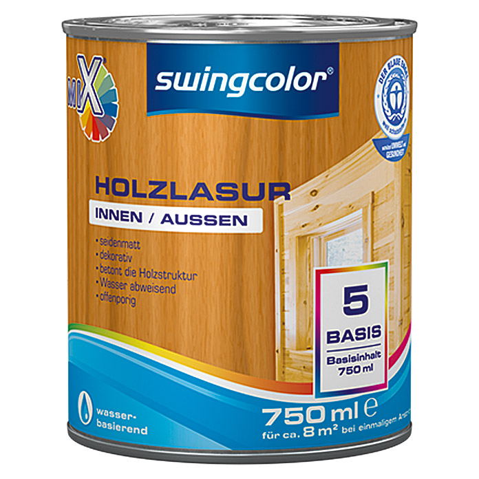 swingcolor Mix Holzlasur  (750 ml, Basismischfarbe)