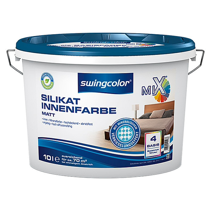 MIX SILIKAT-INNEN-  FARBE BASIS 4   10 lSWINGCOLOR
