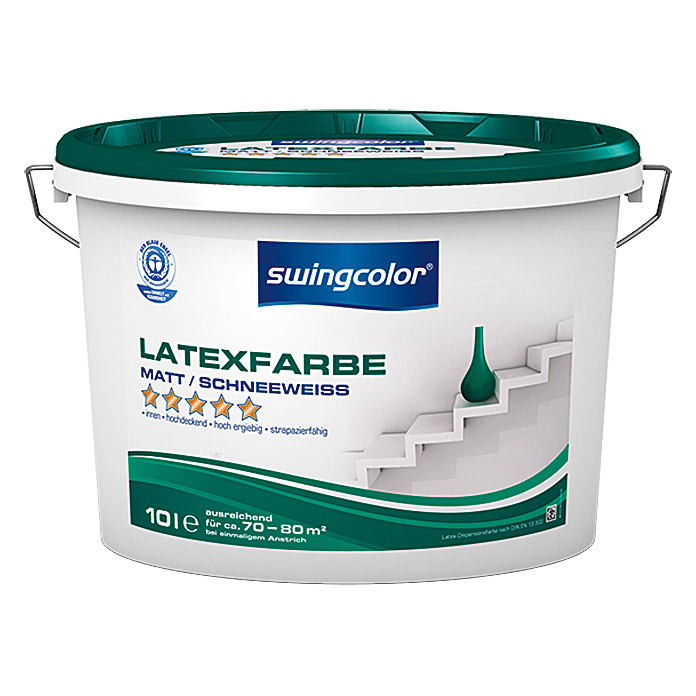 swingcolor Latexfarbe (Schneeweiß, 10 l, Matt) - 6210.D010.0