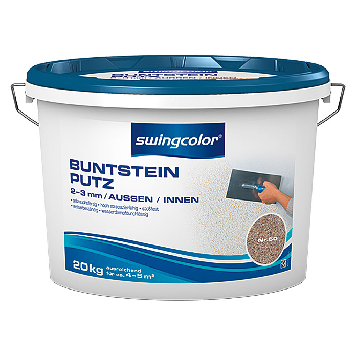 BUNTSTEINPUTZ 2-3mm 20 kg FARBTON 50    SWINGCOLOR