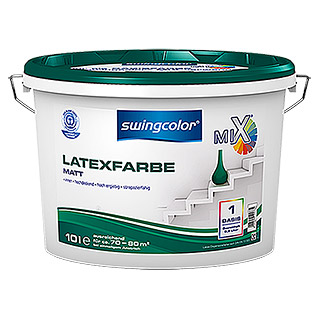 swingcolor Mix Latexfarbe Basis 4 (Basismischfarbe, 2,5 l, Matt)