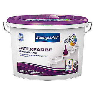 swingcolor Mix Latexfarbe Basis 1 (Basismischfarbe, 10 l, Seidenglänzend)