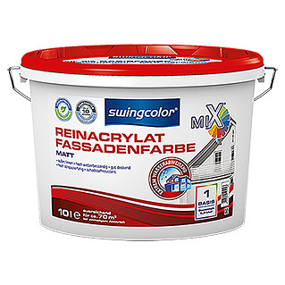 swingcolor Mix Reinacrylat-Fassadenfarbe  (10 l, Matt)