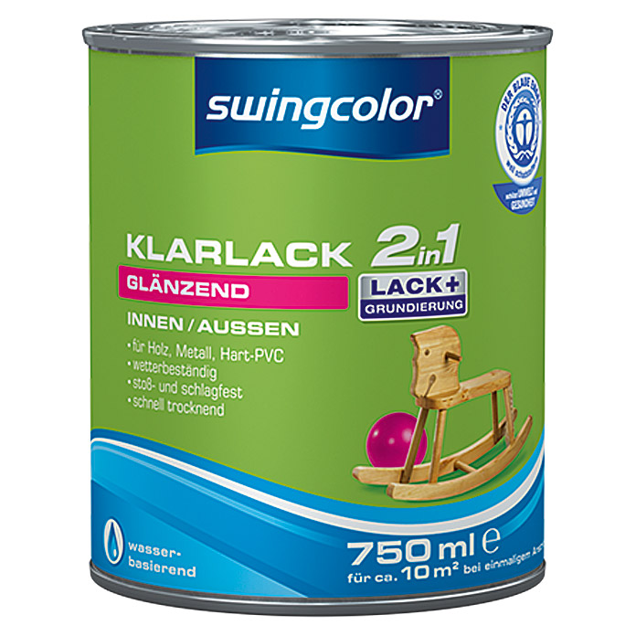 swingcolor 2in1 Klarlack  (750 ml, Glänzend)