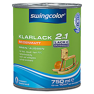 swingcolor 2in1 Klarlack (Farblos, 750 ml, Seidenmatt)