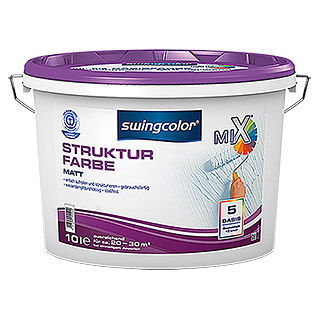 swingcolor Mix Strukturfarbe (Basismischfarbe, 10 l, Matt)