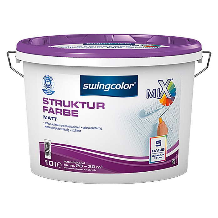 swingcolor Mix Strukturfarbe  (Basismischfarbe, 10 l)