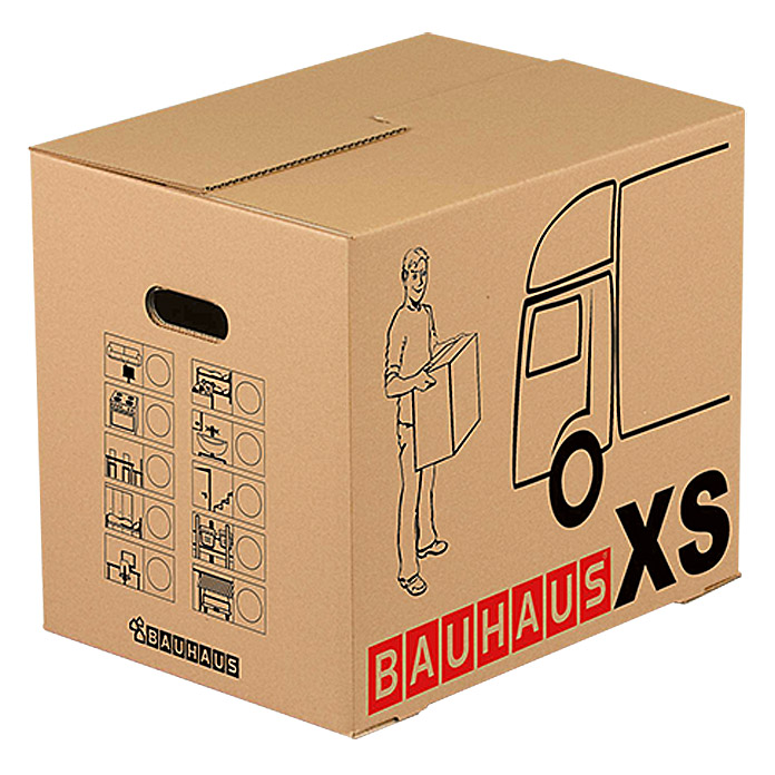 bauhaus umzugskarton multibox xs traglast 25 kg 45 5 x 34 5 x 41 cm bauhaus. Black Bedroom Furniture Sets. Home Design Ideas