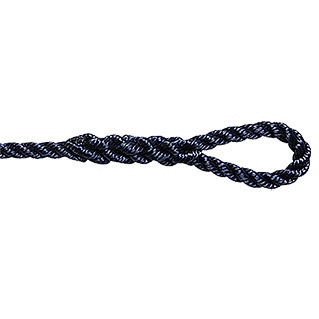 FENDERLEINE TWISTED 8mm,2m GESCHL. NAVY-BLAU 2ST.