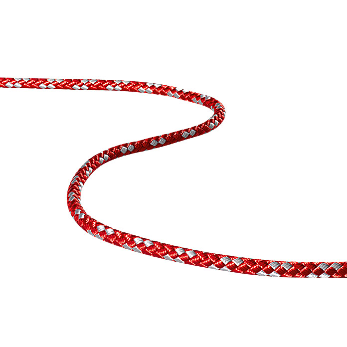 8-PLAITED-DINGHY 6mmPES ROT/SILBER