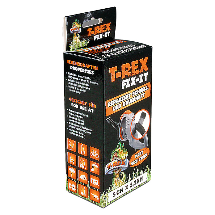 T-Rex Fix-It (2K Glasfaserband, 1,25 m x 50 mm, Schwarz)