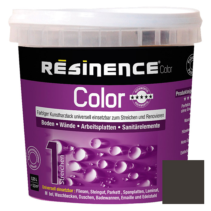 Résinence Color Farbiger Kunstharzlack  (Schwarz Metallic)