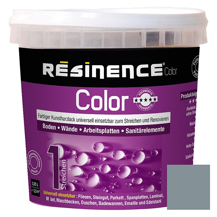 Résinence Color Farbiger Kunstharzlack (Perlgrau, 250 ml) -