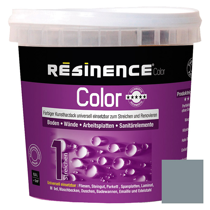 Résinence Color Farbiger Kunstharzlack (Perlgrau, 500 ml) -