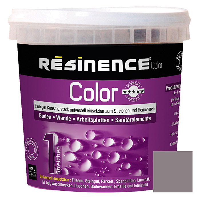 Résinence Color Farbiger Kunstharzlack (Beton, 250 ml) -