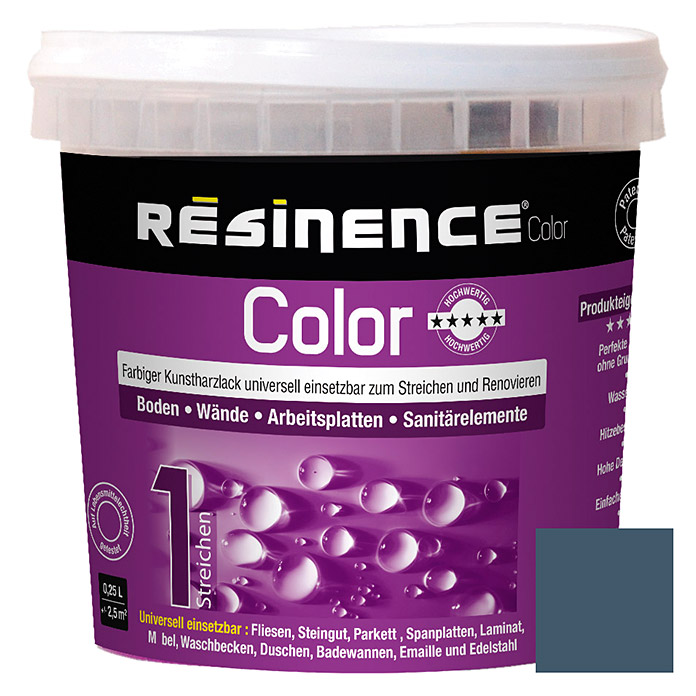 Résinence Color Farbiger Kunstharzlack (Schiefergrau, 250 ml) -