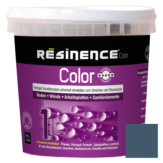 Résinence Color Farbiger Kunstharzlack (Schiefergrau, 500 ml) -