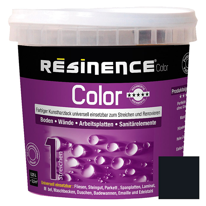 RESINENCE COLOR     250 ml SCHWARZ