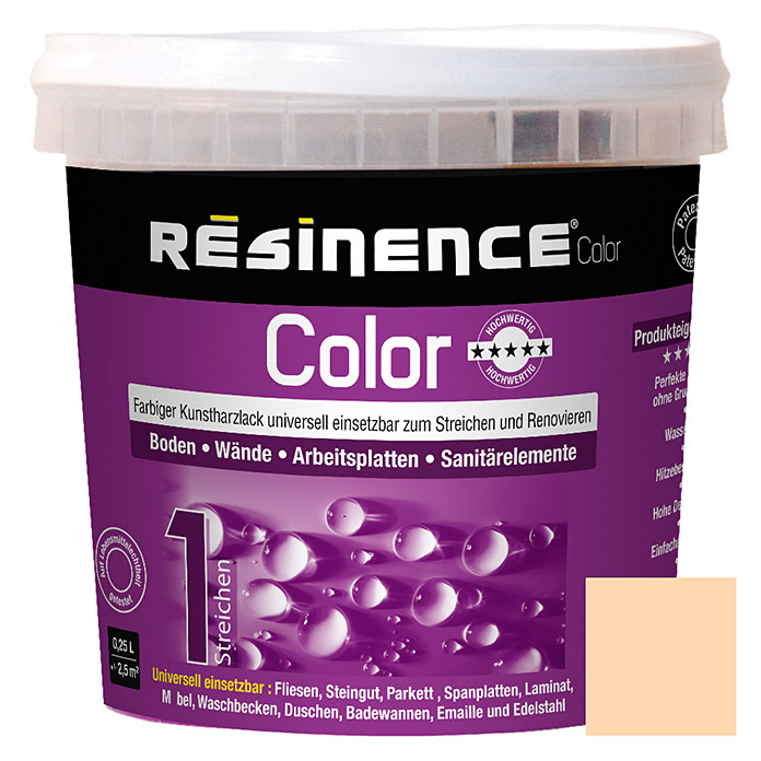 Résinence Color Farbiger Kunstharzlack (Sand, 250 ml) -