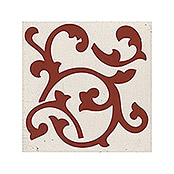 Palazzo Vintage Zementfliese Legend Light (20 x 20 cm, Rot/Beige, Matt)