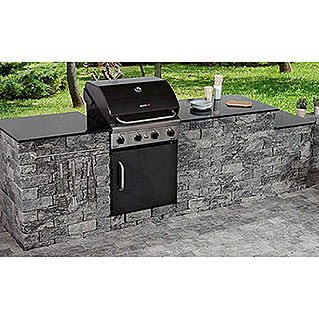 EHL Outdoorkitchen-Set XL (Grau/Anthrazit, 310 x 77 x 100 cm)