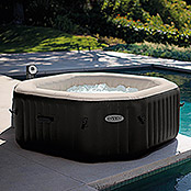 Intex Pure Spa Piscina de hidromasaje Octagon Bubble (Diámetro: 218 cm, Altura: 71 cm, 1.098 l)