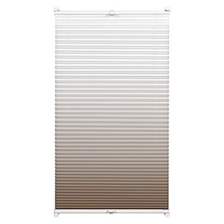 Sunfun Plissee Ombré-Look (80 x 130 cm, Taupe)