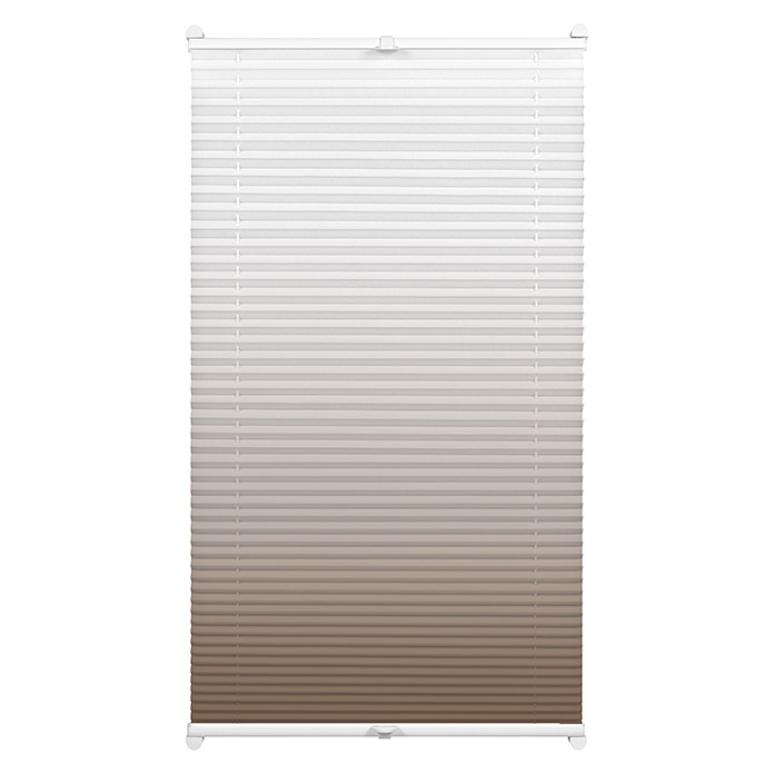 Sunfun Plissee Ombré-Look (70 x 130 cm, Taupe)