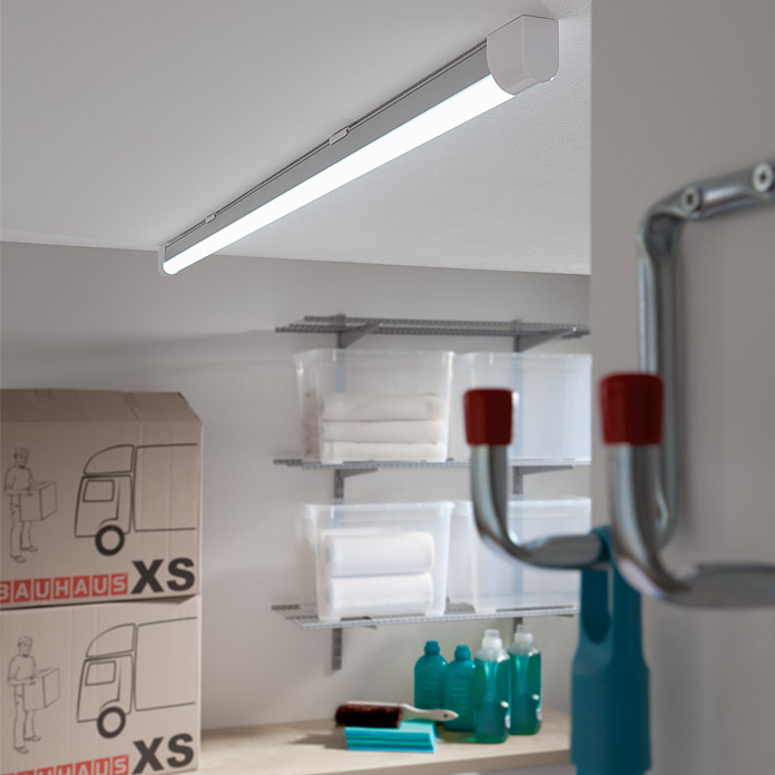 Ritter Leuchten Lámpara fluorescente LED (24 W, Color: Blanco/Aluminio, Largo: 153,3 cm)