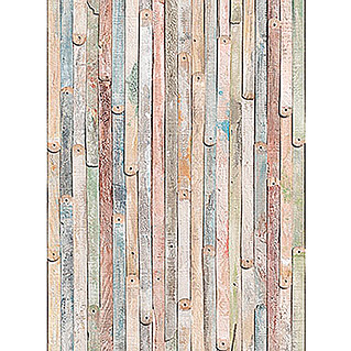 Komar Imagine Edition 3 - Stories Fototapete Shabby Chic Vintage Wood (4-tlg., 184 x 254 cm, Papier)