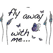 DECOSTICKER 100X70  cm13-TLG.BUTTERFLIES