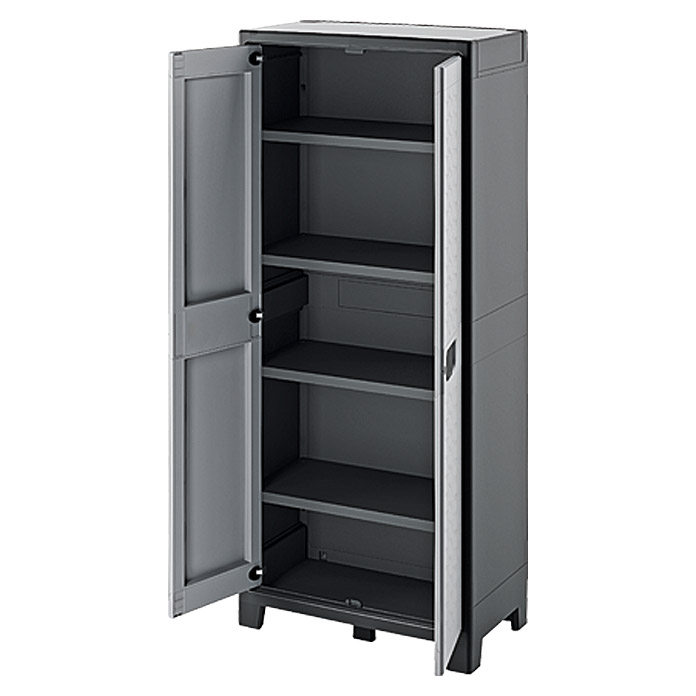 regalux kunststoffschrank space line hoch traglast 30 kg boden bauhaus. Black Bedroom Furniture Sets. Home Design Ideas