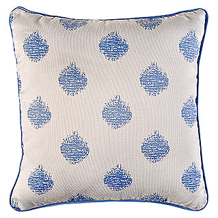 Barbara Becker Home Passion Kissenhülle  (Beige/Blau, 100 % Polyester)