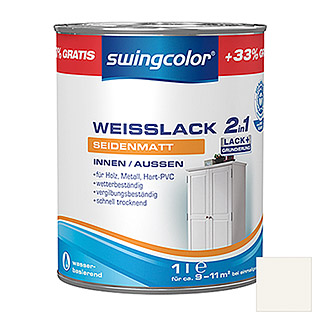 swingcolor 2in1 Weißlack  (1 l, Seidenmatt)